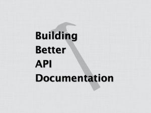 Building Better API Documentation