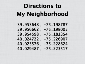Directions to My Neighborhood