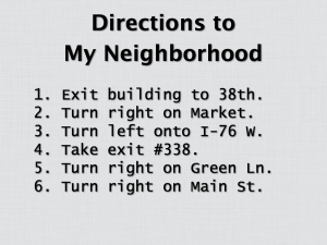 Directions to My Neighborhood Redux